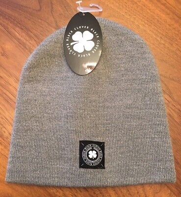 c83fa57c8a2 Black Clover Proto Luck Golf Beanie Winter Hat Live Lucky Heather Gray New!