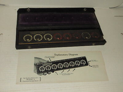 # Vintage Addometer W/ Case - Adding Machine #