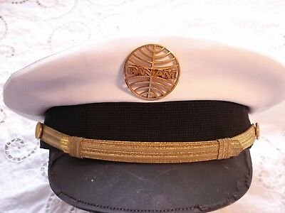 Vintage PAN AM Airlines Pilot Captain's Hat Badge Pan American airplane