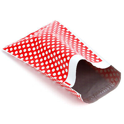 Red Polka Dot STRONG Postal Postage Mailing Poly Bags ALL 100% Recyclable