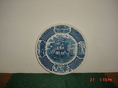 "Alfred Meakin Fair Winds ""friendship Of Salem"" Historic 10 5/8"" Plate/free Ship!"