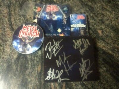 Autographed Metal Church Damned If You Do CD Signed stickersc