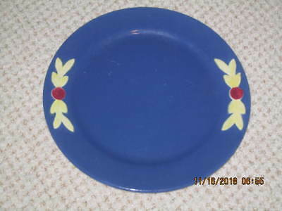 """Coors Pottery  """"rosebud - Blue""""   Luncheon Plate  --  Htf"""