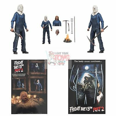 """ULTIMATE JASON VOORHEES NECA Friday The 13th PART 2 2018 7"""" Inch Action FIGURE"""