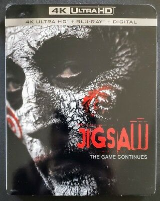 Jigsaw 4K Uhd Blu-Ray Saw ✔☆Slipcover✔☆Mint☆✔ No Digital☆✔Free Shipping