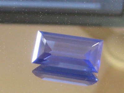 Blue Tanzanite, 21.21 ct Large Precision Baguette cut,Highest quality synthetic