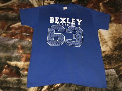 Vintage 80s BEXLEY HIGH SCHOOL T Shirt Large Class Of 1963 Reunion 50/50 W:21""