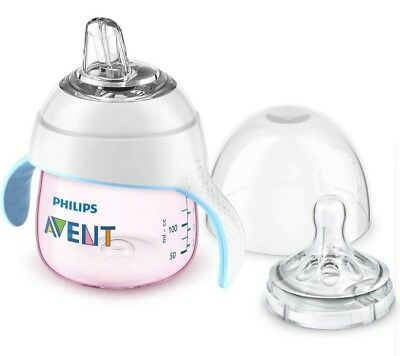 Philips Avent My Natural Trainer Pink Transition Sippy Cup 5 Oz