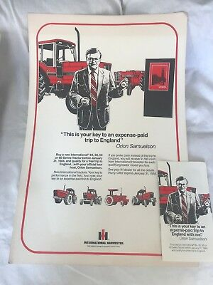 Vintage International Harvester IH  Red Power 60 Series England  Poster 11x14""