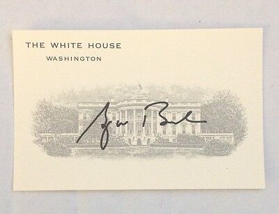 Bush White House Issued Business Card Gw Signature Autopen Signed