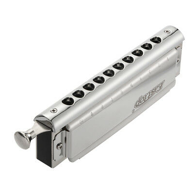 C Key 10 Hole 40 Tone Harmonica for Music Player Adult Beginner Students TH1045