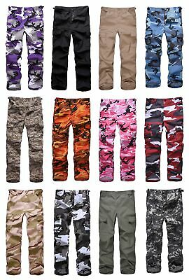 Kids Boys Girls Military Army Ranger Camping outdoor cargo pants trousers