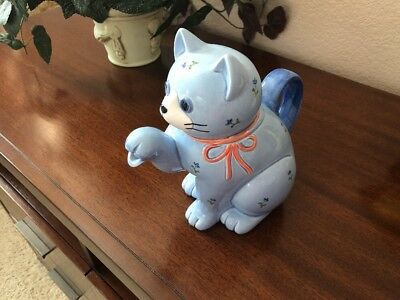 Otagiri Japan Vintage Blue Cat Teapot-Mint! G23