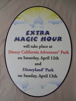 Disney California Adventure Disneyland Extra Magic Hours Sign Display Prop DCA