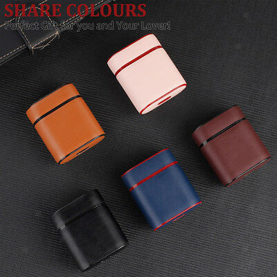 Portable PU Leather Earphone Charging Case Skin Protective Cover for AirPods