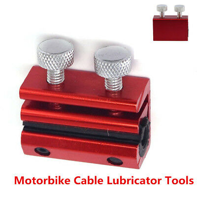 Red Cable Lubricator Tool Luber Motorcycle ATV Throttle Clutch Brake Cable Tool