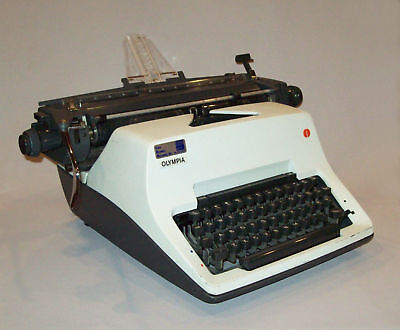 Vtg 1970s Olympia SG3 Manual Desk Typewriter Old 1975 Works Great Very Nice Cond