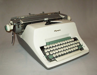 Old vtg 1960s Olympia SG3 Manual Desk Typewriter 1965 Works Great Very Nice Cond