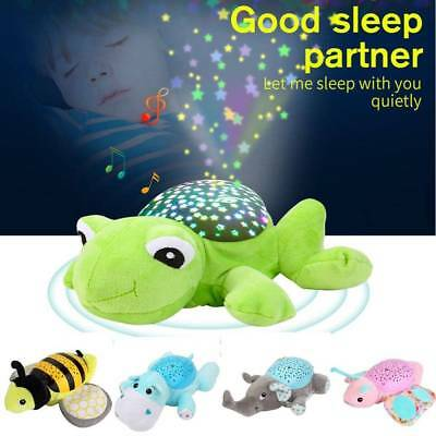 Baby Sleep Lamp LED Night Light Plush Stuffed Toy Music/Star Projector Gift US