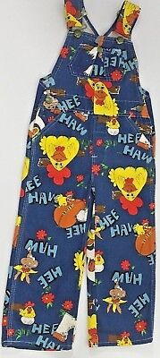 Liberty Overalls 70's Tv Show Hee-Haw Girl/boy Youth 4 Mint Condition