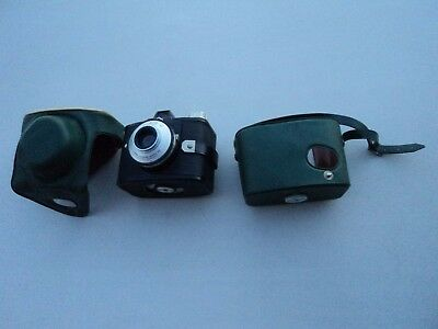 Vintage Agfa Clack 6042/020 Camera Original Green Leather Case Made in Germany