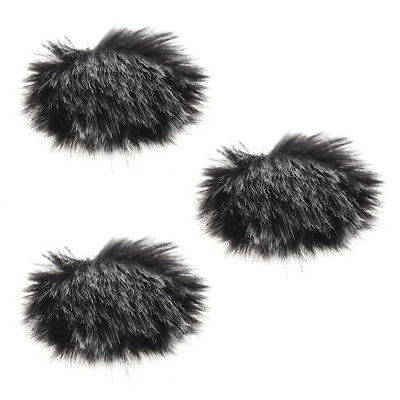 Furry Outdoor Microphone Windscreen Muff Mini Lapel Lavalier Microphone W3Q8