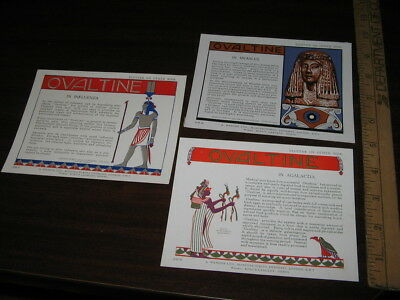 OVALTINE Wander UK advertising blotter fountain pen ink 1920s EGYPTIAN sphinx (3