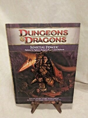 Dungeons & Dragons Martial Power RPG Game Supplement Book 4th Ed Fighters Rogues