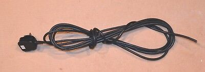 5m Flexible 2-core Power Cable, 3 amp fuse.  From wet/dry vacuum cleaner