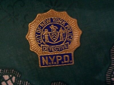 Nypd  Detective Mylar Patch
