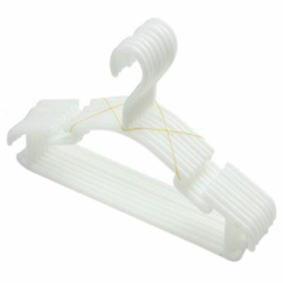 WHITE - Pack of 10 Pieces Hanger Non-slip hangers for children's clothes PP T2E1