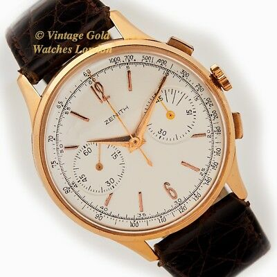 ZENITH CHRONOGRAPH, CAL.156D, 18CT PINK GOLD, c1954 - IMMACULATE!
