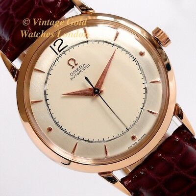Omega Cal.351 Automatic, 1947, 18Ct Pink Gold, Two-Tone Dial - Immaculate!