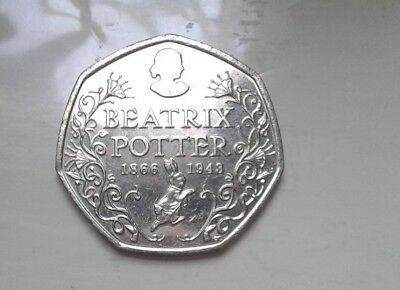 Extremely Rare Circulated Anniversary Beatrix Potter 50P 2016 Fifty Pence