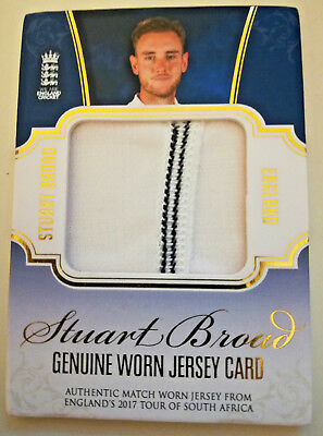 Stuart Broad Tap N Play Jersey Card Rare /200 Cricket Cards England 2018
