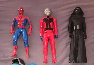 Action Figuren 3 stück Spiderman Star Wars And-Man ca 30cm Marvel Superhelden