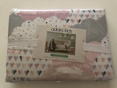 BNIP Adairs Kids Cloud Dream Flanelette COT SET