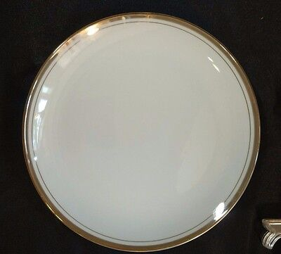 Royalton Golden Elegance China Bread and Butter Plates White Gold