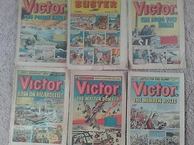 Buster 25Th August 1973 And 5 Victor Comics From 1974 Post Free Lower Price !!