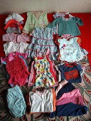 Baby girl clothes bundle 6-9 9-12 months summer outfits