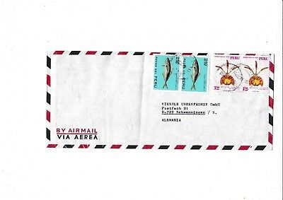 Peru 829,853 BLUME ORCHIDEE FISCH ORCHID FISH MARINE LIFE BRIEF COVER PECES