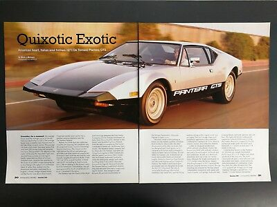 1973 De Tomaso Pantera GTS - Original 6 Page Full Color Article
