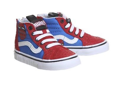 Vans Marvel Sk8 Hi Zip Toddler Sneakers Spiderman Red Blue Sz 4.0 5.0 5.5  6.0 a6c4c9c9b