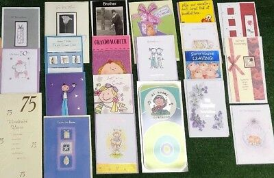 21 New Greeting Cards Bundle Birthday Family Anniversary Wedding Age Get Well