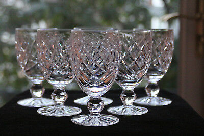 """Waterford Irish Crystal, """"Donegal"""" Red Wine Glasses (6)"""