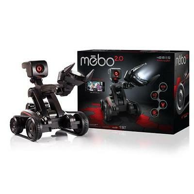 Mebo 2.0 Interactive Robot with Articulating Arm ~ NEW Black Spybot