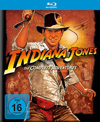 Indiana Jones - Complete Adventures Collection Harrison Ford 5 Blu-Ray Box New