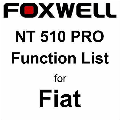 Function List for Fiat Foxwell NT510 PRO OBD OBD2 scanner pdf-file