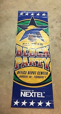 2003 NHL All-Star Weekend - Florida - Block Party Street Banner - Double Sided