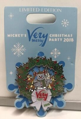 Disney's 2018 WDW Mickey's Very Merry Christmas Party Chip & Dale Pin , New
